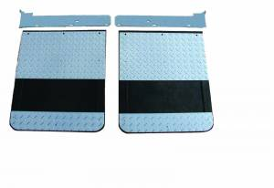 GO Industries - Ford Truck Diamond Plate Mud Flaps