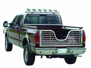 Chrome Round Tube Headache Racks - Ford Trucks