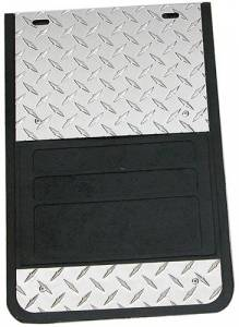 Owens - Universal Fit Diamond Plate Dually Mud Flaps