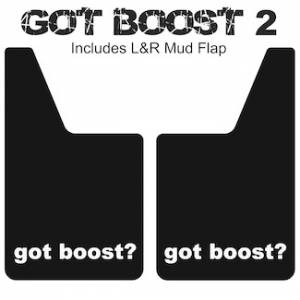 "Classic Series Mud Flaps 20"" x 12"" - Got Boost Mud Flaps Logo 2"