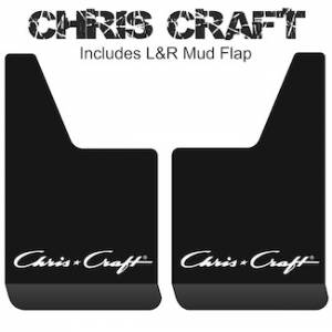 "Contour Series Mud Flaps 19"" x 12"" - Chris Craft Logo"