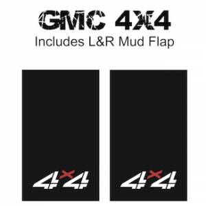 "Heavy Duty Series Mud Flaps 22"" x 13"" - GMC 4 X 4 Logo"