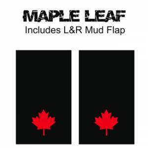 "Heavy Duty Series Mud Flaps 22"" x 13"" - Maple Leaf Logo"