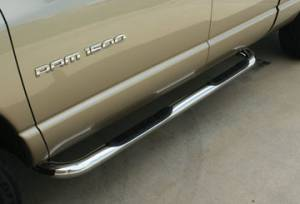 Cab Length Nerf Bars in Stainless steel - Ford