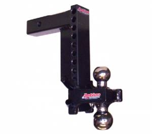 Action Accessories Ball Mounts and Hitch Balls - Black Powder Coat Adjustable Ball Mounts
