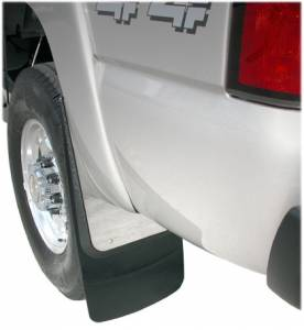 Contoured Stainless Steel Mud Flaps - Chevy and GMC Trucks