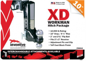 "Inventive Products Hitch Kits and XD Attachments - 10"" Hitch Kits"