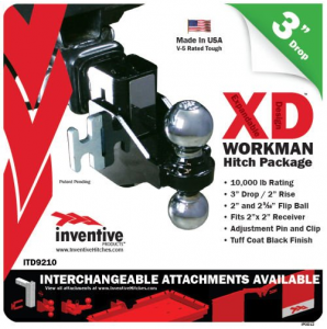 "Inventive Products Hitch Kits and XD Attachments - 3"" Hitch Kits"