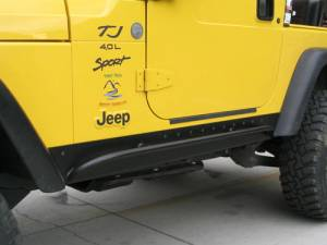 Jeep Rock Sliders - Warn Rock Sliders