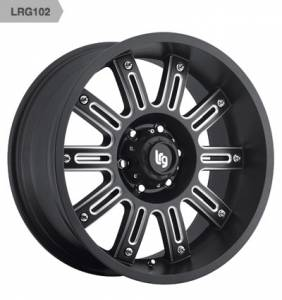 LRG Rims - 102 Series Black and Milled