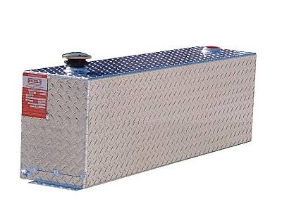 Aluminum Tank Industries - ATI TTR72S-B Split Tank Rectangular 72 Gallon Refueling Tank 36/36 Split Black