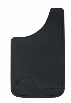 "Plasticolor - Plasticolor 000520R01 Black with Raised Off Road Scene Mud Flaps Pair 11"" x 19"""
