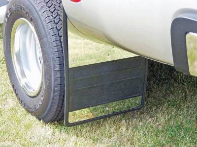 Owens - Owens 86RF110S Rubber with Stainless Steel Dually Mud Flaps Ford F350 2011-2016
