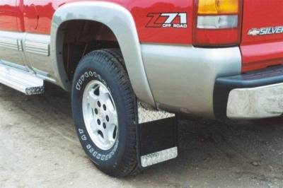 Owens - Owens 86RF201D Universal Fit Rubber with Diamond Plate Truck Mud Flaps