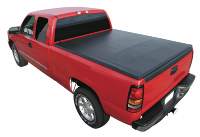Rugged Cover - Rugged Cover FCNT5504 Premium Folding Tonneau Cover Nissan Titan 5.5' bed with or w/o utility track (2004-2013)