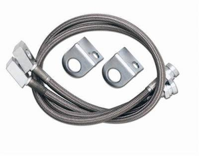 Rubicon Express - Rubicon Express RE1552 Stainless Steel Brake Line Front 22""