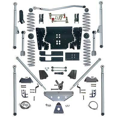 "Rubicon Express - Rubicon Express RE7524 Long Arm Kit with Tri Link 4.5"" Jeep LJ Unlimited 2004-2006"
