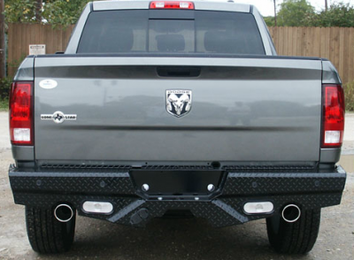 Frontier Gear - Frontier Gear 100-40-9004 Diamond Back Bumpers Dodge 1500/Laramie/Sport (Dual Exhaust) with Senors + Lights 2009-2014