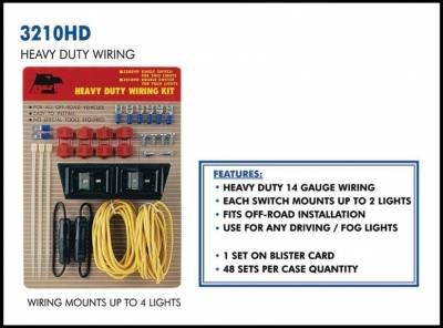Eagle Eye Lights - Eagle Eye Lights 3210HD Wiring Kit for 4 Lights 14 Gauge Wiring 20 AMP Fuse (Kit)