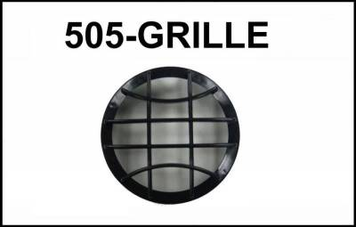 "Eagle Eye Lights - Eagle Eye Lights CV-505-GRILL Black Grille Guard for 4 31/32"" (HID505) and Non-HID (HG505) Lights with Wording ""HID"" (Each)"