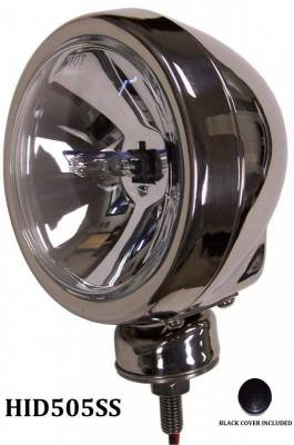 "Eagle Eye Lights - Eagle Eye Lights HID505SS 4 31/32"" Stainless Steel 35W Internal Ballast HID Spot Clear Round HID Off Road Light with ABS Cover (Each)"