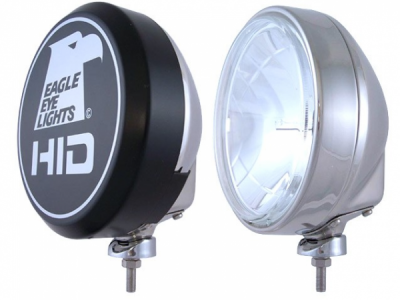 "Eagle Eye Lights - Eagle Eye Lights HID906S 8 5/16"" Stainless Steel 35W Internal Ballast HID Spot Clear Round HID Off Road Light with ABS Cover (Each)"