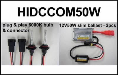 Eagle Eye Lights - Eagle Eye Lights HIDCCOM50W 2011-2012 Can Am Commander 50W HID Upgrade (Kit)