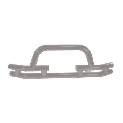 Rugged Ridge - Rugged Ridge 11562.03 Front Tube Bumper With Winch Cut Out Titanium 1976-2006 Jeep CJ Wrangler/Unlimited