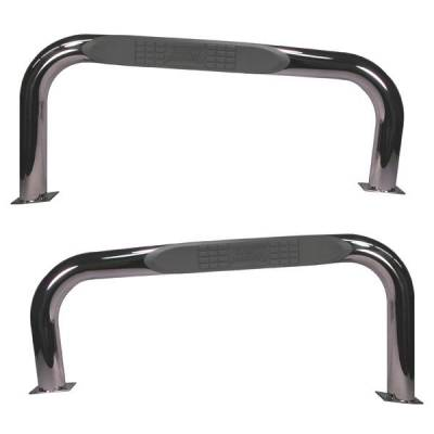 "Rugged Ridge - Rugged Ridge 11593.02 Side Tube Step 3"" Round Stainless 1976-1983 CJ7 Pair Drilling Required"
