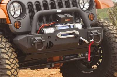 Rugged Ridge - Rugged Ridge 11540.23 Stubby Ends Txt Black Front XHD Jeep Wrangler JK