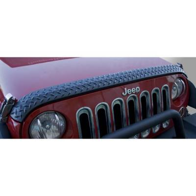 Rugged Ridge - Rugged Ridge 11651.17 Body Armor Hood Guard Black Jeep Wrangler Jeep Wrangler JK 2007-2011