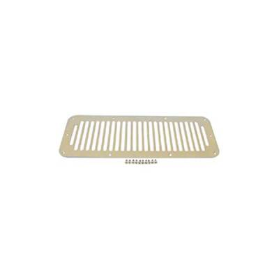 Rugged Ridge - Rugged Ridge 11117.02 Hood Vent Cover 1976-1995 Jeep CJ & Wrangler Stainless