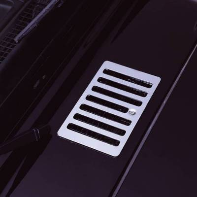 Rugged Ridge - Rugged Ridge 11117.04 Hood Vent Cover 1998-2006 Jeep Wrangler/Unlimited Stainless