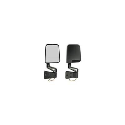 Rugged Ridge - Rugged Ridge 11015.02 LED Mirror Pair Black 1987-2002 Wrangler With Dual Focal Point On Passenger Side Lens