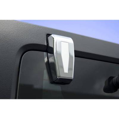 Rugged Ridge - Rugged Ridge 13311.25 Lift Gate Hinge Covers Chrome Jeep Wrangler JK 2007-2012 With Hardtop