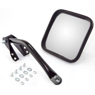 Rugged Ridge - Rugged Ridge 11001.09 Mirror & Arm Kit Left Hand Black 1955-1986 CJ