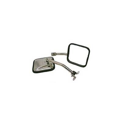 Rugged Ridge - Rugged Ridge 11005.06 Mirror Kit CJ Style Stainless 1987-1995 Wrangler