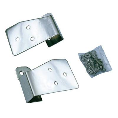Rugged Ridge - Rugged Ridge 11026.03 Mirror Relocation Bracket Pair Stainless 2003-2006 Wrangler