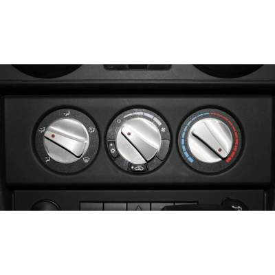Rugged Ridge - Rugged Ridge 11420.06 Climate Control Knob Set Billet Aluminum With Red Indicators Jeep Wrangler Jeep Wrangler JK 2007-2015 3 Piece