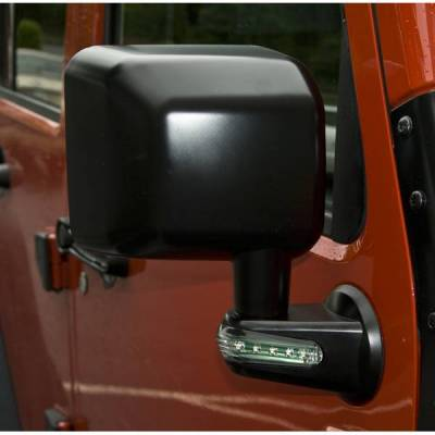 Rugged Ridge - Rugged Ridge 11002.14 Mirror Right Hand Black With Turn Signal Indicators Jeep Wrangler Jeep Wrangler JK 2007-2015