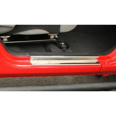 Rugged Ridge - Rugged Ridge 11119.04 Entry Guard Pair Stainless Steel Jeep Wrangler JK 2-Door 3M Tape 2007-2010