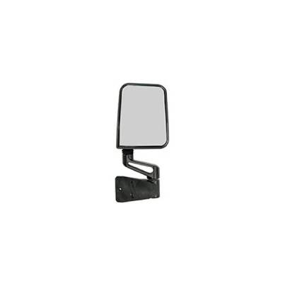 Rugged Ridge - Rugged Ridge 11002.04 Side Mirror Black Right Only 1987-2002 Jeep Wrangler With Factory Half Doors 1994-2002 Full Doors