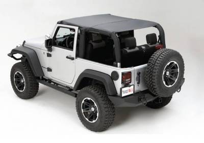 Rugged Ridge - Rugged Ridge 13590.35 Brief SuMMer Black Diamond Jeep Wrangler JK 2 Door