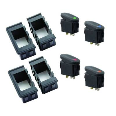 Rugged Ridge - Rugged Ridge 17235.89 Rocker Switch Housing Kit Universal Application Includes Four Interlocking Switch Housings And Four Rocker Switches