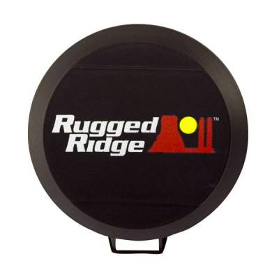Rugged Ridge - Rugged Ridge 15210.50 Hid Off Road Light Cover 6-Inch Black Each