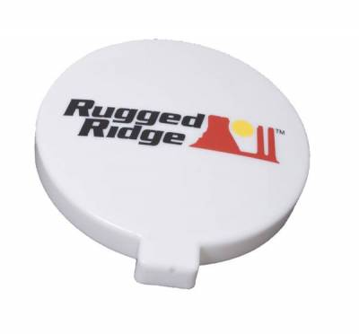 Rugged Ridge - Rugged Ridge 15210.58 Off Road Light Cover 6-Inch White Slim Each