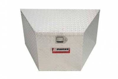 "Owens - Owens 45002 Garrison Trailer Tongue Boxes Standard 49"" Silver Tool Box"