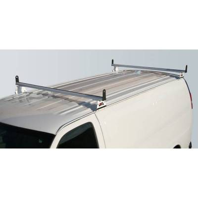 Vantech - Vantech H3086B 2 Bar with A03 Side supports Aluminum Black Ford Econoline (1992-2013)
