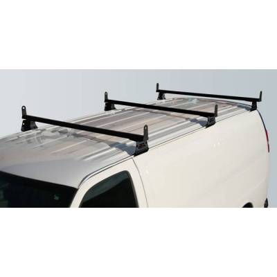 Vantech - Vantech H3077B 3 Bar with A03 Side supports Aluminum Black Ford Econoline (1975-1991)