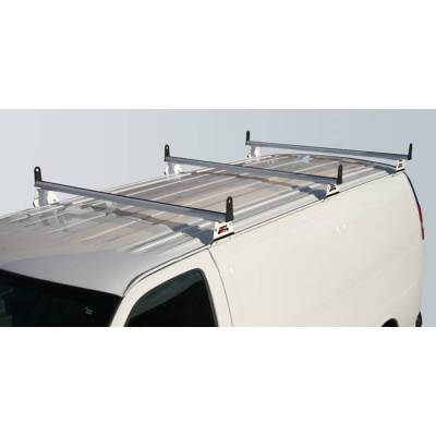 Vantech - Vantech H3087W 3 Bar with A03 Side supports Aluminum White Ford Econoline (1992-2013)